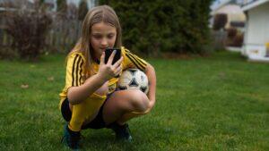 Fotballjente med LagetMitt-appen